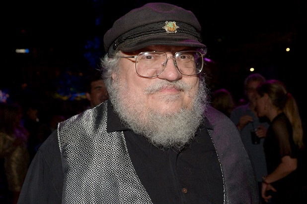 "SAN DIEGO, CA - JULY 25:  Novelist George R.R. Martin attends the Playboy and A&E ""Bates Motel"" Event During Comic-Con Weekend, on July 25, 2014 in San Diego, California.  (Photo by Charley Gallay/Getty Images for Playboy)"