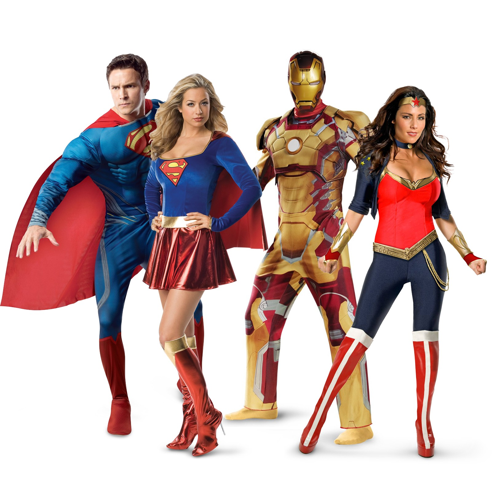 superheroes-heroinas-disfraces-superman-supergirl-ironman-wonder-woman