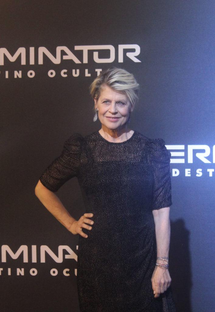 La legendaria Linda Hamilton en la alfombra roja de Terminator
