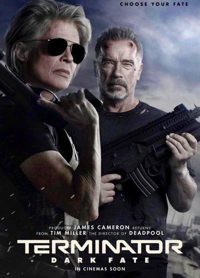 Linda Hamilton y Arnold Schwarzenegger reunidos para Terminator: Dark Fate
