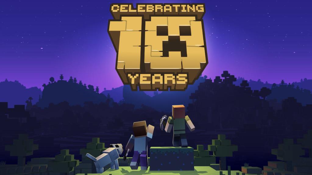 Minecraft celebra 10 años