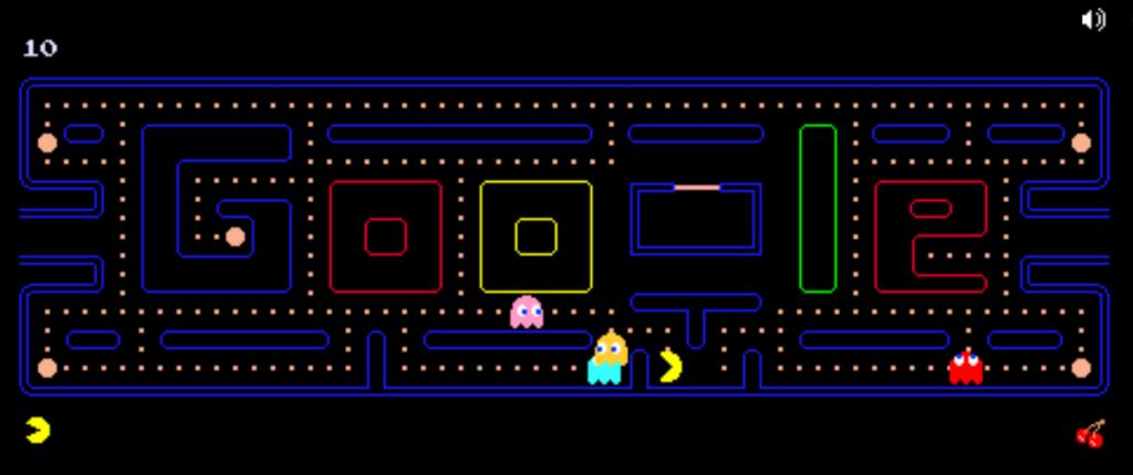 7 Cameos de Pac-Man: 7 Doodle de Google