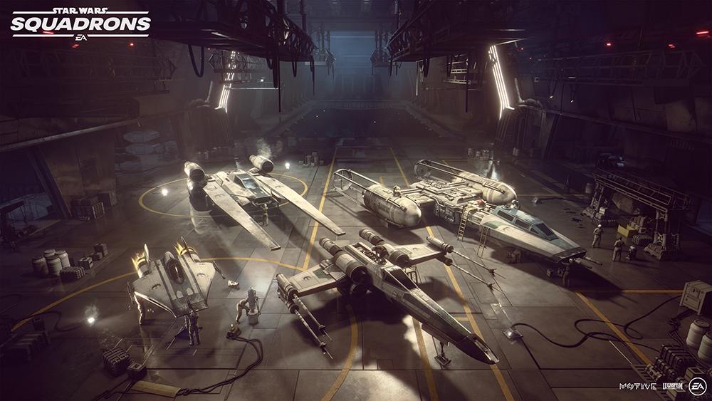 Star Wars: Squadrons hangar