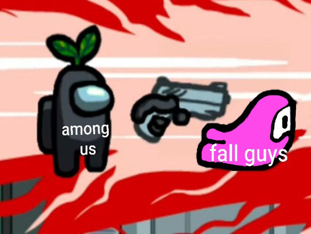 Among Us kills fall guys