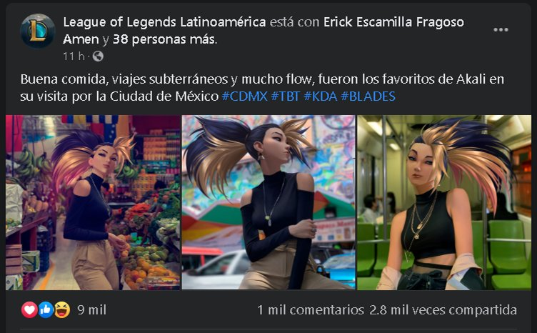 Akali de League of Legends visita CDMX