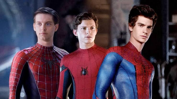 Tobey Maguire, Tom Holland y Andrew Garfield juntos