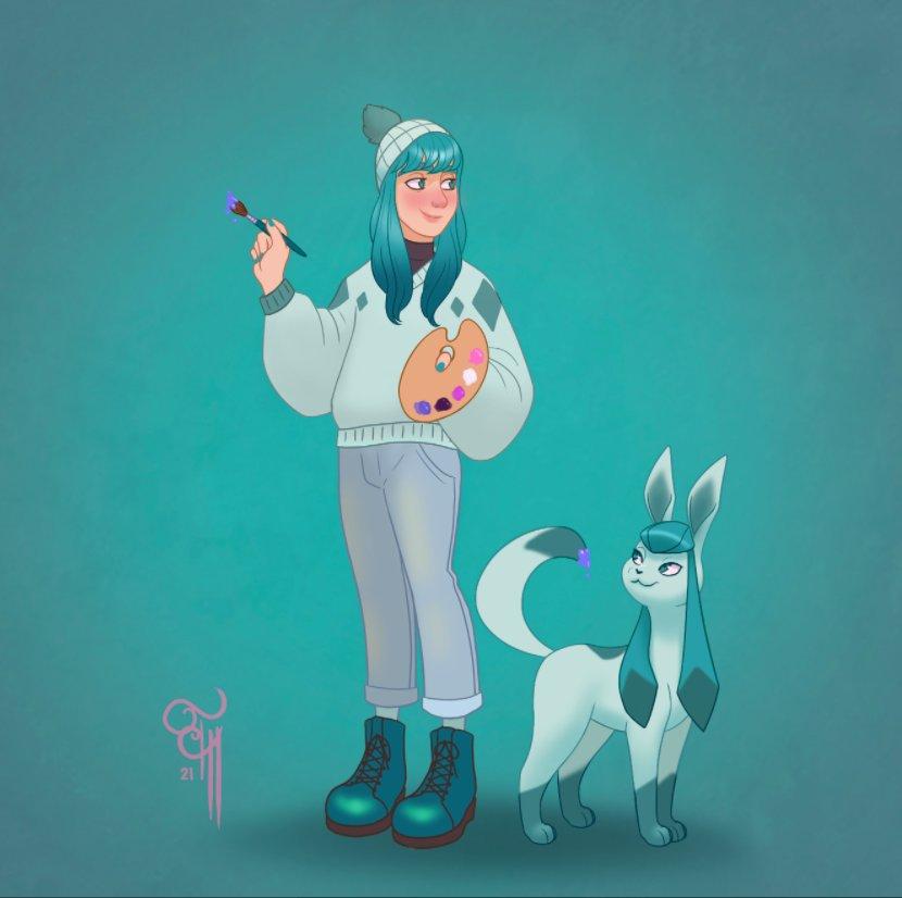 Pride pokémon art and magic glaceon