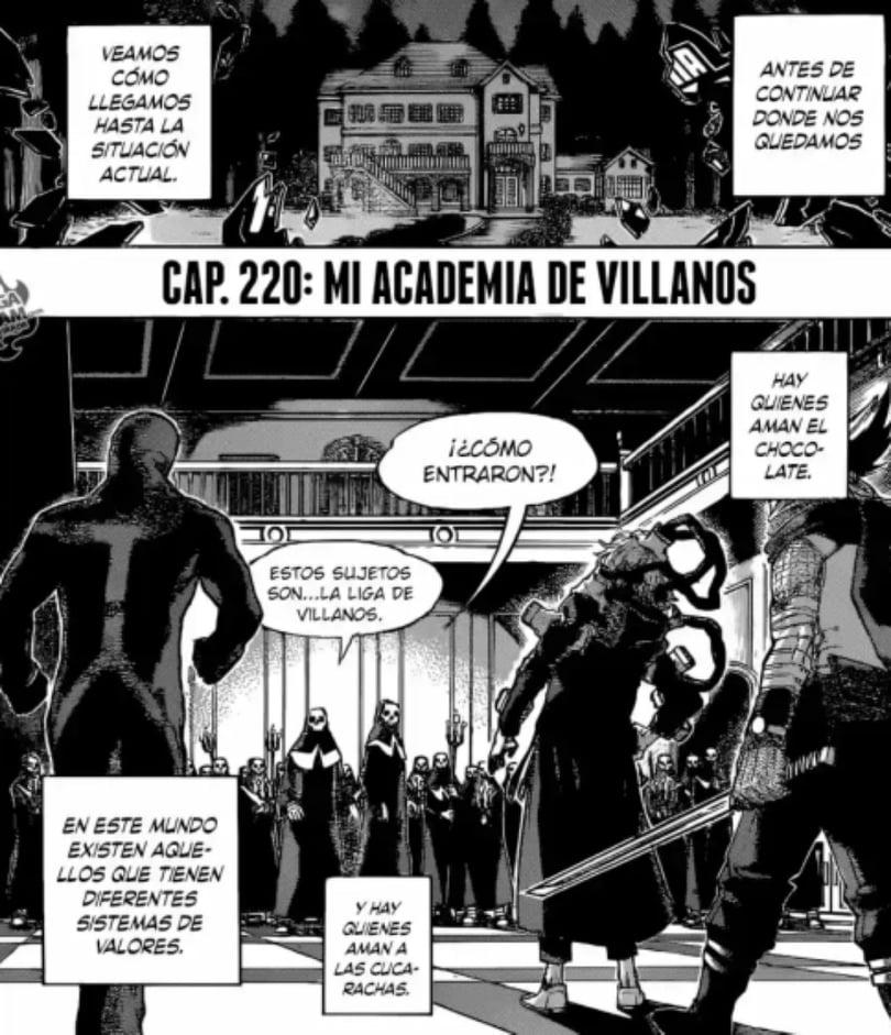 BNHA 220- entrada real de la Liga de Villanos