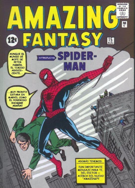 Amazing Fantasy 15, primera aparición de Spider-man